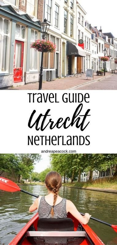 Utrecht, Netherlands is a great day trip getaway from Amsterdam. With its quaint historic charm and beautiful canal, take a look at this Utrecht travel guide to discover this adorable Dutch city! #netherlandstravel #utrecht #amsterdamtravel #europetravelguide