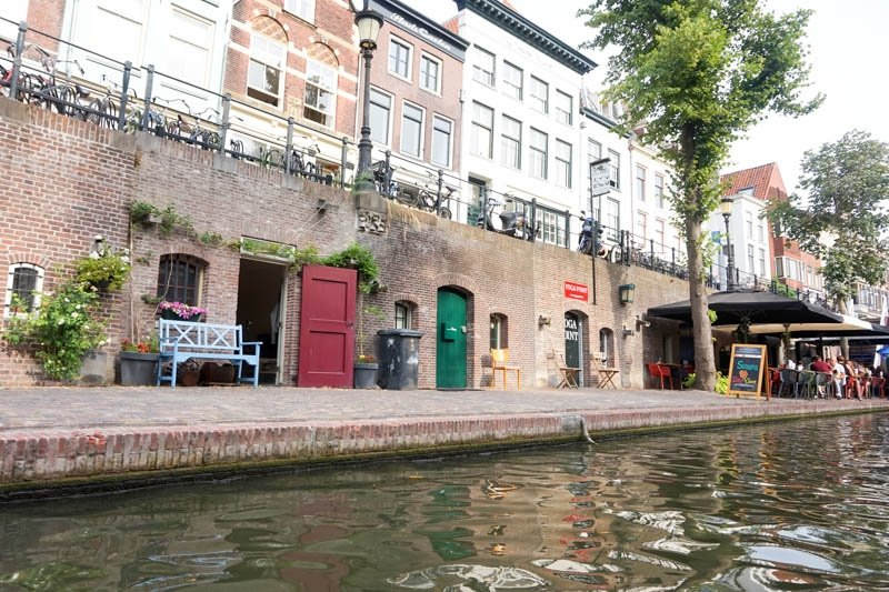 Kayaking down the canal in Utrecht, Netherlands is a great way to see the city!