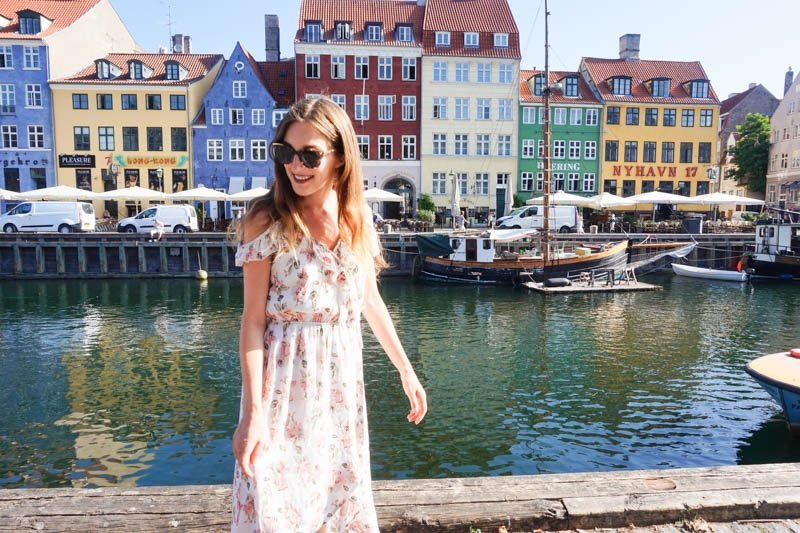 Nyhavn is a popular waterfront area in Copenhagen, Denmark, lined with lots of restaurants and colourful buildings, and is a must-visit as part of a two-day Copenhagen itinerary.