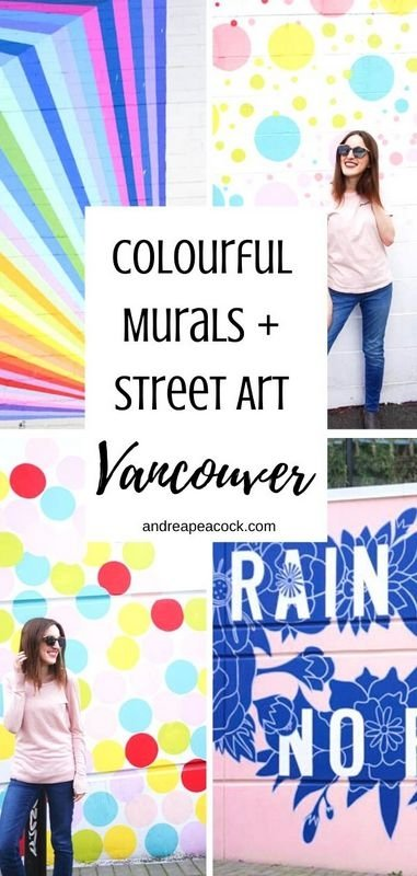 Colourful murals and street art in Vancouver, British Columbia