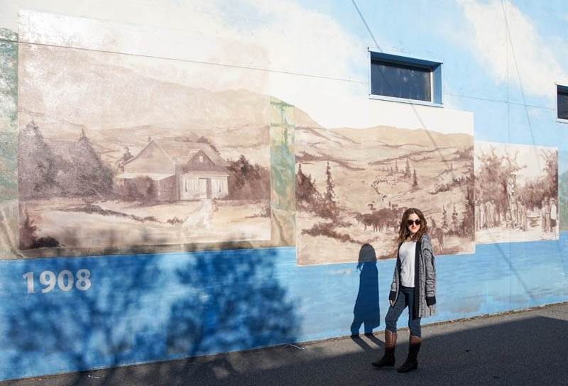 Murals showcasing the history of Penticton from 1908 to 2008