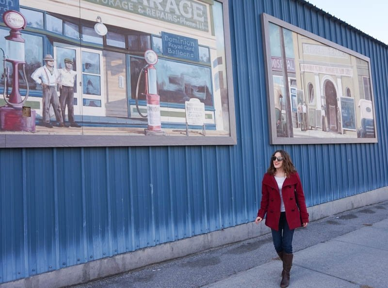 Murals featuring historical images from Penticton, B.C.