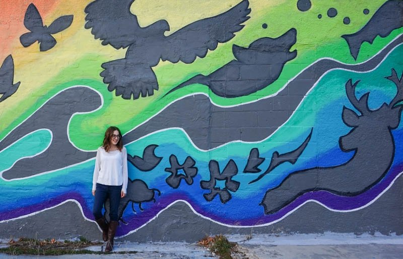 Rainbow Environment is in our Hands mural in Penticton, B.C.