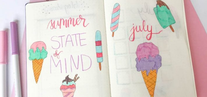 July bullet journal setup