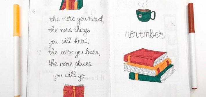 november bullet journal setup