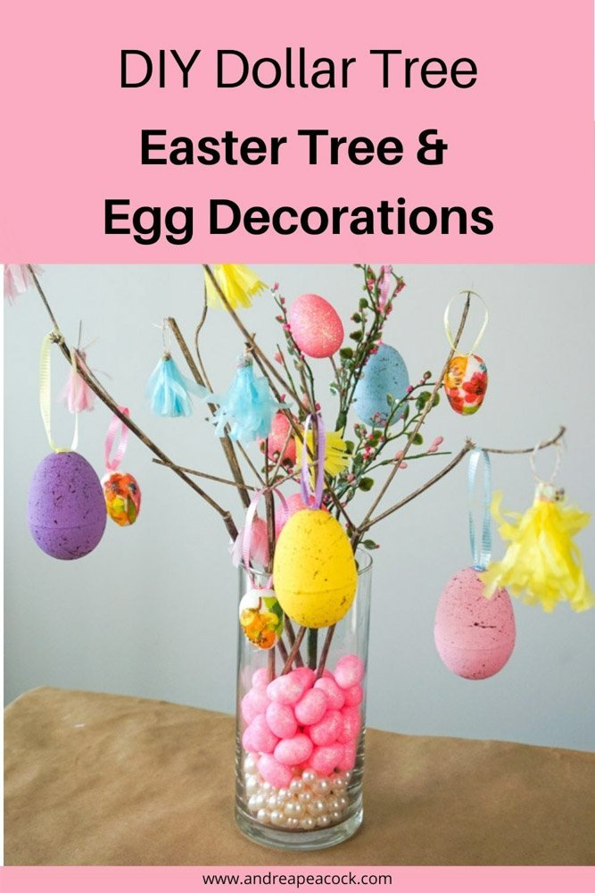 diy easter tree and egg decorations