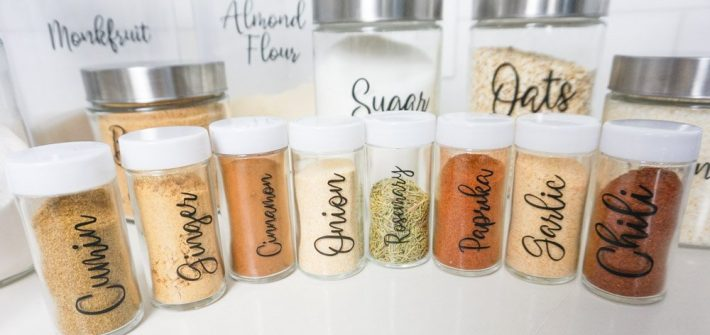 diy cricut pantry labels
