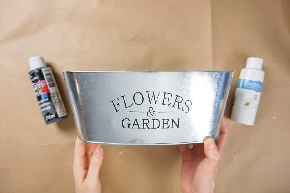 dollar tree floral bucket diy
