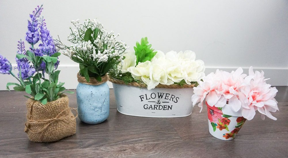 Dollar Tree spring farmhouse floral DIYs