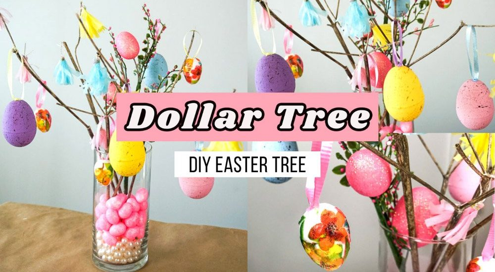 dollar tree easter tree diy