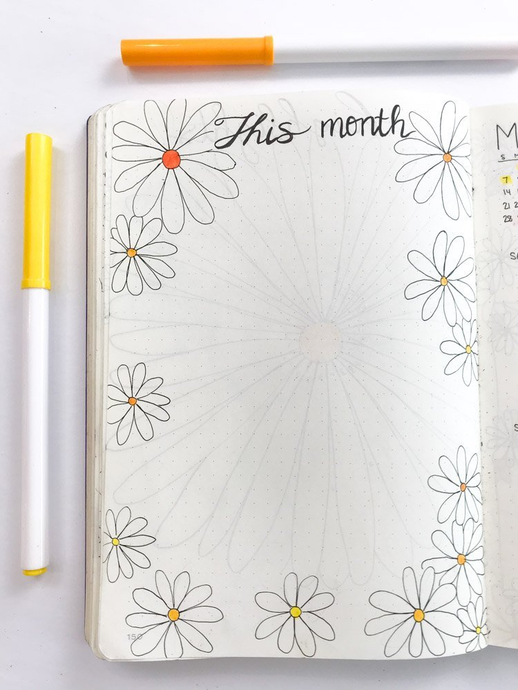 bullet journal monthly brain dump page
