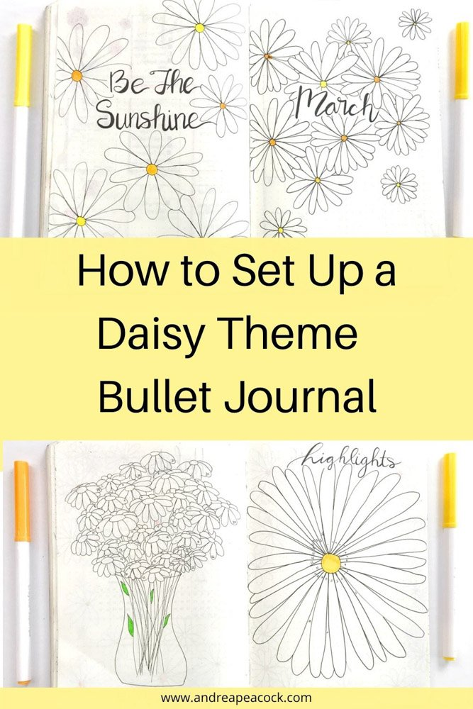 how to set up a daisy theme bullet journal